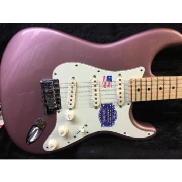 Fender American Deluxe Stratocaster Electric Guitar Burgundy Mist Metallic