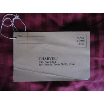 vintage 1980s Charvel Jackson guitar warranty registration card hang tag manual