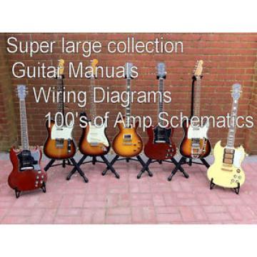 Super Large Mega Set of Guitar Manuals and  Bass Amp Technical Manuals  CD