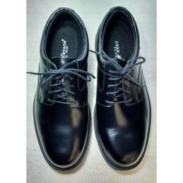 """Mens DEER STAGS Black Leather """"SUPRO SOCK"""" Lace-up Oxford Size 10.5 Wide NWOT"""