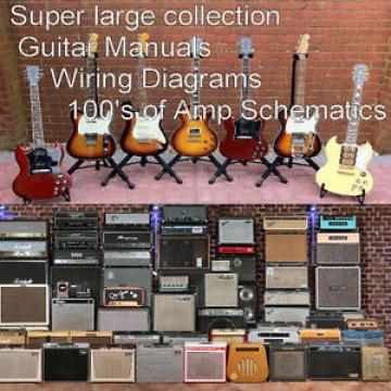 GUITAR Collection of Guitar Manuals And Amplifier Manuals Schematics Custom CD