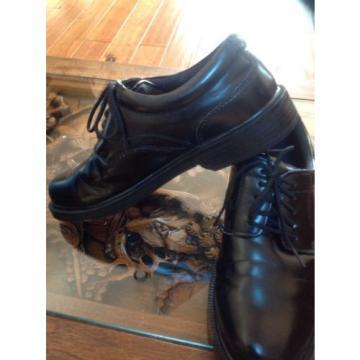 MEN'S DEER STAGS SUPRO OXFORD BLACK DRESS SHOES SIZE 7M LACE UP