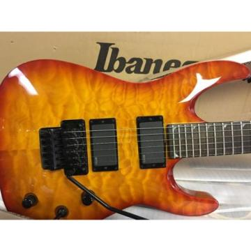NOS Jackson SLATXMGQ3-6 SOLOIST Trans Amber Sunburst Quilt Electric Guitar