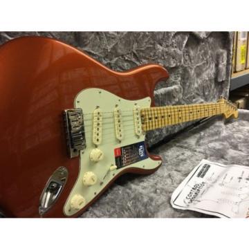 New!! Fender American Elite Strat Stratocaster Autum Blaze Metallic W/HSC!!