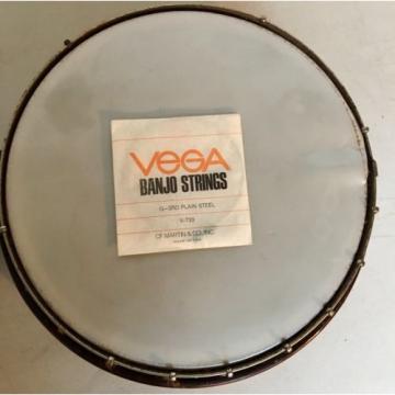 "Vintage Supro 5-string 39"" Wood Banjo & Resonator & New Vega String Parts Repair"