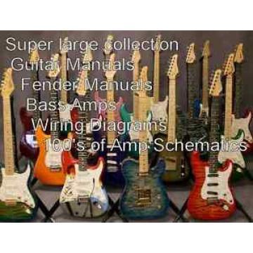 GUITAR  Super Large Collection of Guitar Manuals Amplifier Manuals Schematics cd
