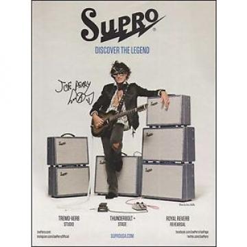 Aerosmith Joe Perry Supro Guitar & Thunderbolt Amps ad 8 x 11 advertisement
