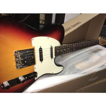 NOS Fender American Vintage Hot Rod 60's Telecaster Tele 3 Tone Sunburst W/HSC