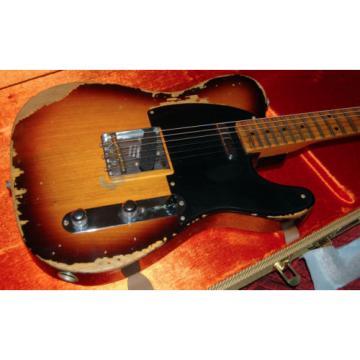 2016 Fender 1952 Telecaster Heavy Relic CS Handwound PU's Under 7lbs! RARE CS