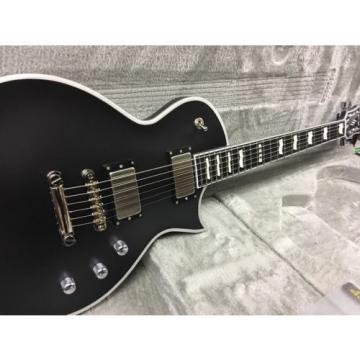 ESP E-II Eclipse Electric Guitar Black Satin W/HSC EMG Pickups Locking Tuners