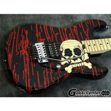 Charvel PRO WARREN DEMARTINI SIGNATURE BLOOD AND SKULL Electric Guitar Free Ship