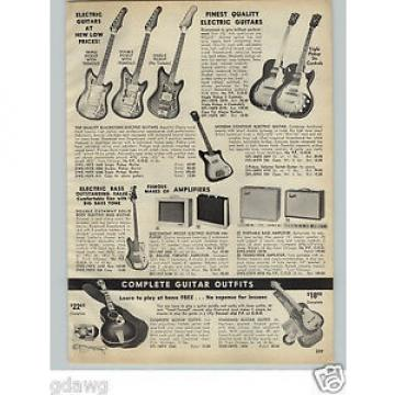 1966 PAPER AD Blackstone Electric Guitar Triple Double Single Pickup Supro Amp
