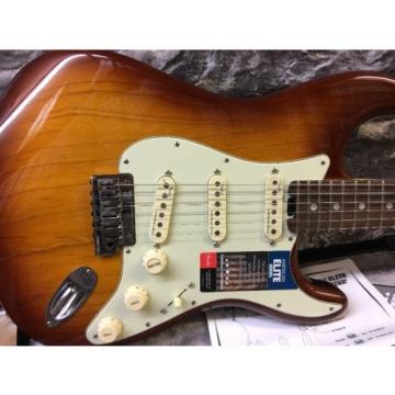 Fender American Elite Maple Stratocaster Electric Guitar  Tobacco Sunburst