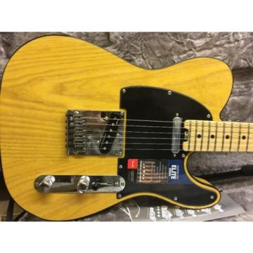 Fender American Elite Telecaster Tele Butterscotch Blonde W/HSC Locking Tuners