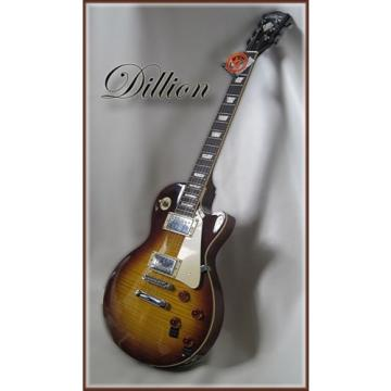 DILLION- USA  beautiful LP teaburst with an AAAA flame maple top ( WOW ! )