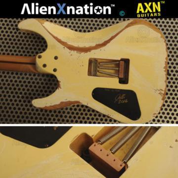 Vintage 1986 ESP Reverse Banana Kamikaze Guitar Relic'd by AlienXnation™ Guitars