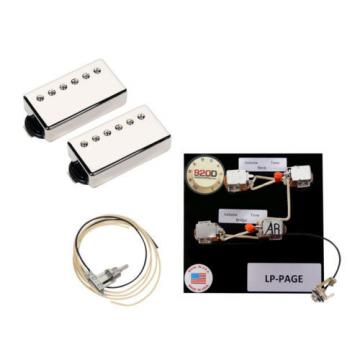 Duncan SH-18 Whole Lotta Humbucker Set, Nickel + LP Page+T Wiring Harness