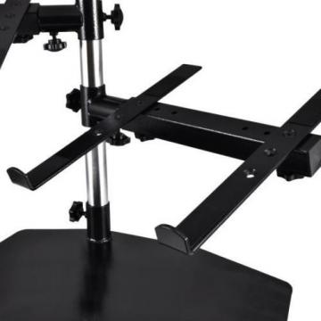 NEW Pyle PLPTS45 Dual Laptop Mixer Studio Equipment Stand Holder Tabletop Mount