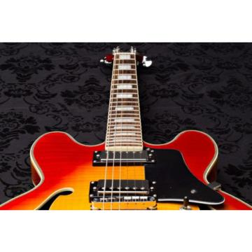 Wolf KSA50 Cherry Burst Semi-Hollowbody (ES-335 style)Elec Guitar w/ Gigbag