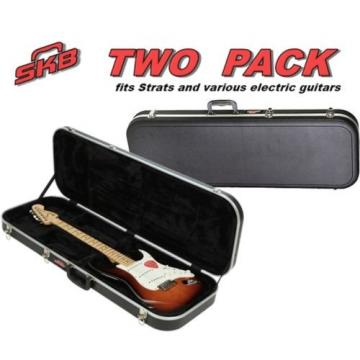 2- PACK  hardshell Electric Guitar Travel Cases PLUSH interior neck support