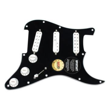 Fender Stratocaster Strat Loaded Pickguard Duncan Everything Axe Pickups BK/WH