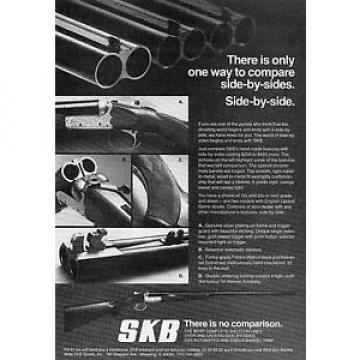 1978 SKB Side-By-Side Shotgun Print Ad
