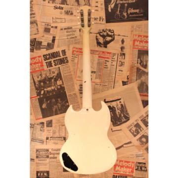 """Gibson 1963 SG Junior TV """"Polaris White"""" Non Trem Used w / Hard case"""
