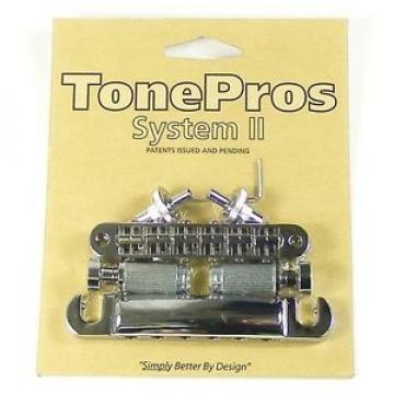 TonePros LPCM04-CH Imperial Locking Bridge & Tailpiece, Chrome