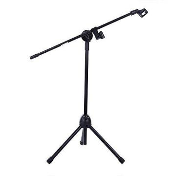 Ohuhu174; Microphone Stand Dual Mic Clip / Collapsible Tripod Boom Stand