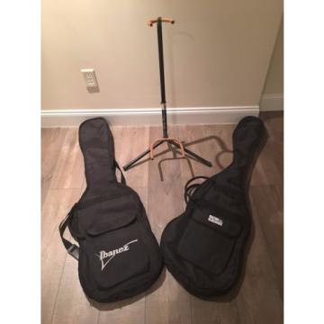 On-Stage Stands stand also  Ibanez & Guitar Research travel guitar bags