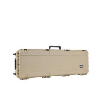 Desert Tan SKB Double Rifle case & Pelican TSA 1750 lock. With foam