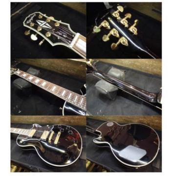 Excellent Japan electric guitar Epiphone [Les Paul Custom] black