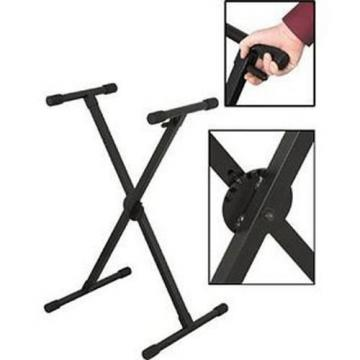 On Stage KS7390 quikSQUEEZE Single-X Keyboard Stand 73011