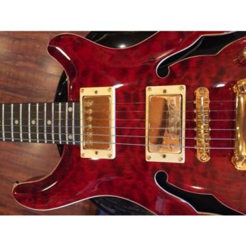 Wolf KLP 45QM Transparent red  Semi Hollow Electric Guitar