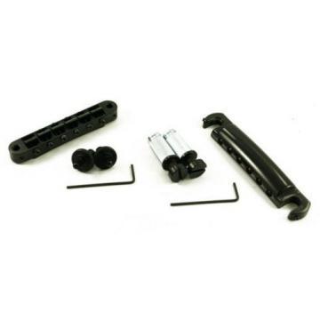 TonePros LPBM04-BLK Imperial Locking Bridge & Tailpiece, Black