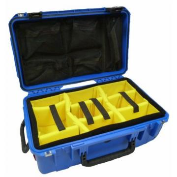SKB  BLUE 3i-2011-7BLY-D With dividers (Yellow) & Pelican 1510 Lid org. & Locks.