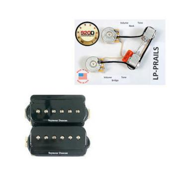 Seymour Duncan SHPR-1 P-Rails Humbucker Pickup Set, Black w/LP-PRAILS Harness