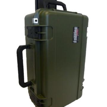 SKB Cases OD GREEN With padded dividers & Pelican 1510 / 1519 Lid org. & 2 LOCKS