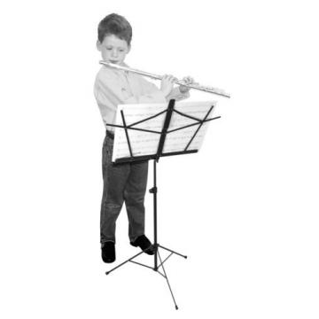 On Stage SM7122BB Folding Sheet Music Stand with Carrying Bag, Black - 3 Pack