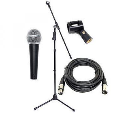 Vocal Microphone+Pro Trigger Mic Boom Stand+XLR Mic Cable+Clip Complete DP Stage