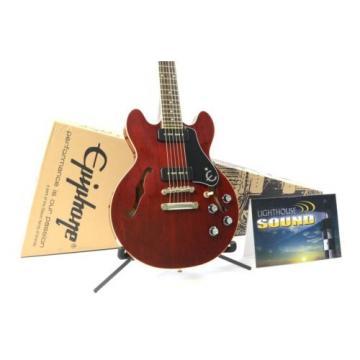 Epiphone ES-339 P90 PRO Semi-Hollowbody Electric Guitar - Cherry w/Epi Box