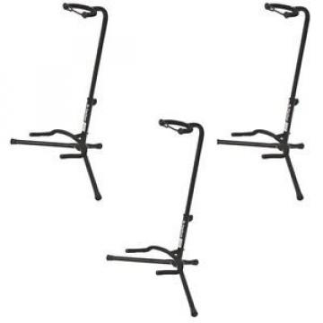 NEW On Stage XCG4 Black Tripod Guitar Stand, 3 Pack