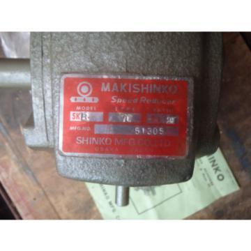 MAKISHINKO WORM GEAR SPEED REDUCER Model SKB Type 70. LOOKS UNUSED