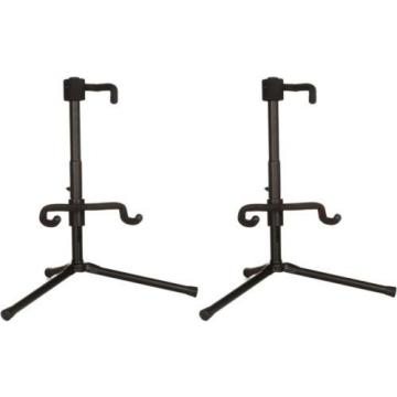 On-Stage Stands Push-Down, Spring-Up Locking Electric G... (2-pack) Value Bundle