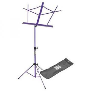 On Stage SM7122PB Compact Sheet Music Stand with Bag, Purple