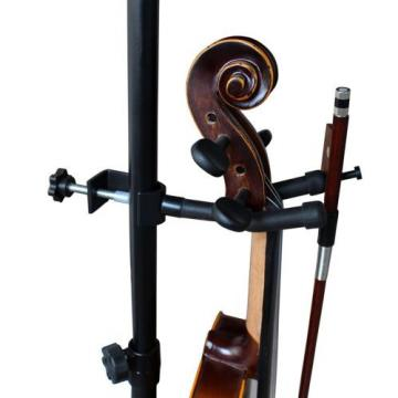 Vizcaya VLH10 Violin Hanger With Bow Peg Attachment for Music Stand/Microphone 1
