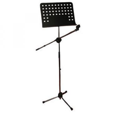 Pyle PMSM9 New Tripod Microphone Music Note Stand W/ Mic Boom Steel Construction