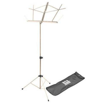 Folding Music Stand On Stage Music Stand Adjustable With Carrying Bag Chrome