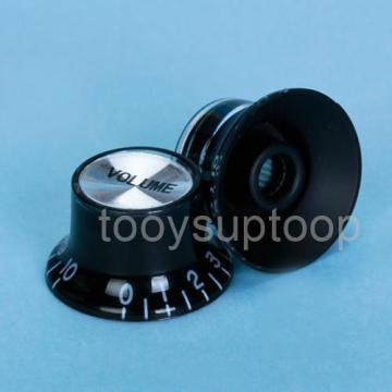 Black 1 Volume 2 Tone Control Knob Part For Fender Strat Electric Guitar