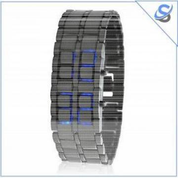 "Japanese Style Inspired Blue Led Watch ""Ice Samurai"""